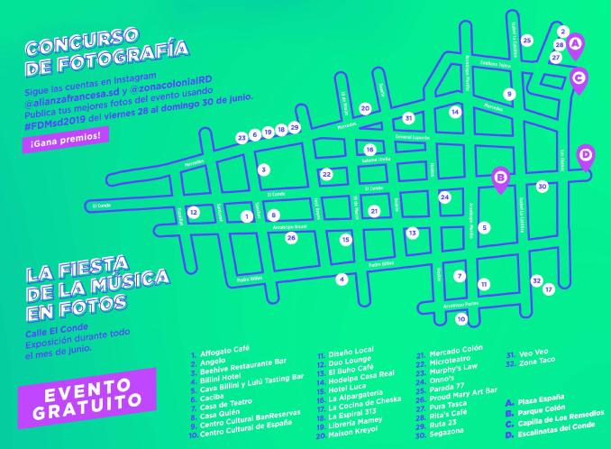 fiesta de la musica mapa